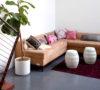 Mavens HQ Citrus Studios Kalika Yap office loft styled by Erika Brechtel corner sofa boho pillows garden stools feat