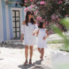 MOMMY & ME Ydra Island White Lace & Linen