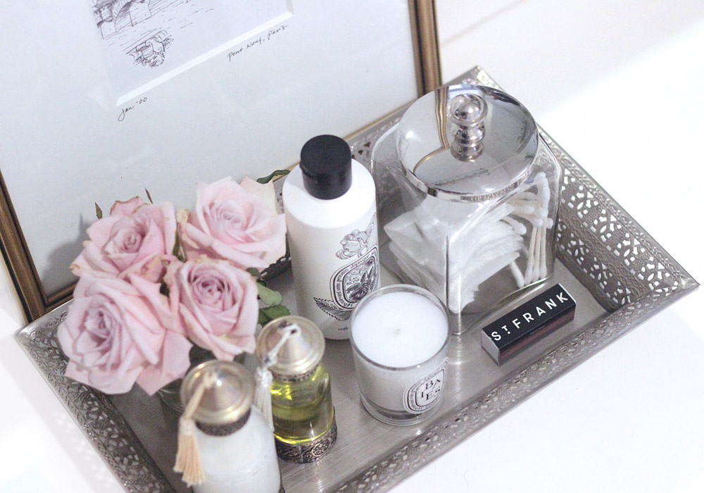 how to style a bathroom tray diy blush - Bathroom Tray