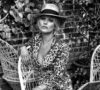Kate Moss x Equipment by Chris Colls for The Edit leopard pajamas panama hat feat