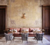 Soho House Istanbul painted walls wood doors rose sofa feat