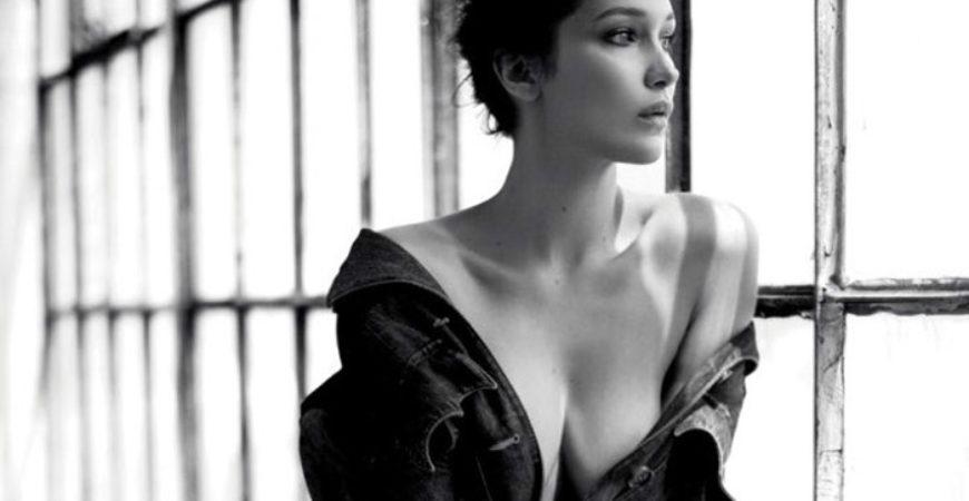 Bella Hadid by Mathieu Cesar in Miu Miu Harpers Bazaar Russia feat