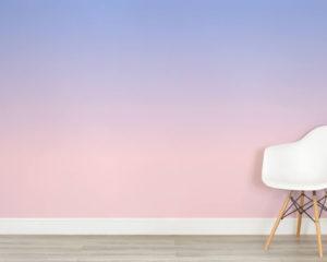 murals wallpaper pink periwinkle ombre