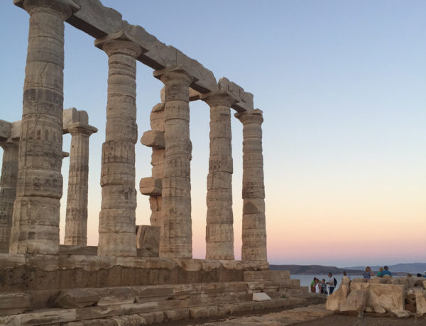 athens greece travel guide erika brechtel cape sounios temple of poseidon sunset colors