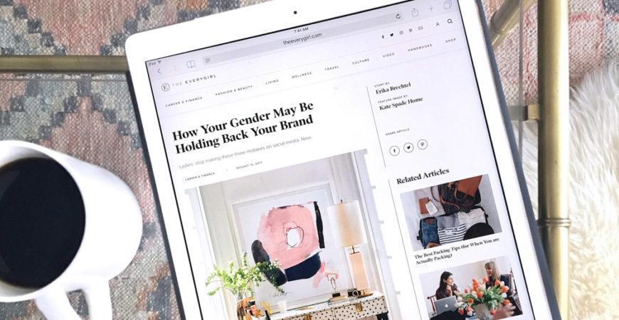 The Everygirl branding tips for women by Erika Brechtel