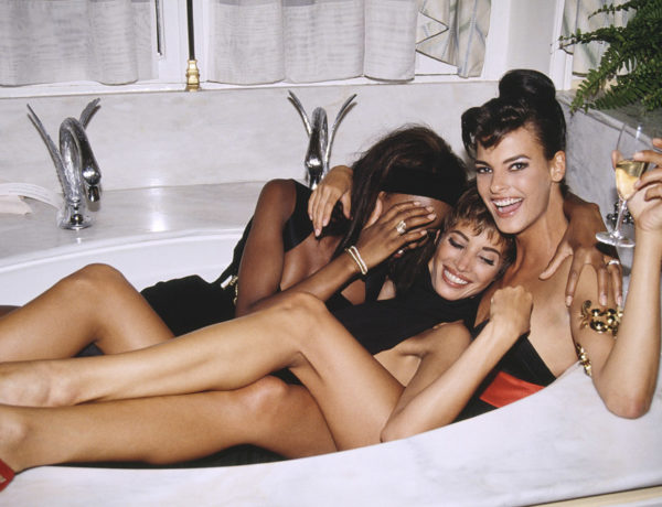 1990s fashion supermodels Naomi Campbell Christy Turlington Linda Evangelista by Roxanne Lowit