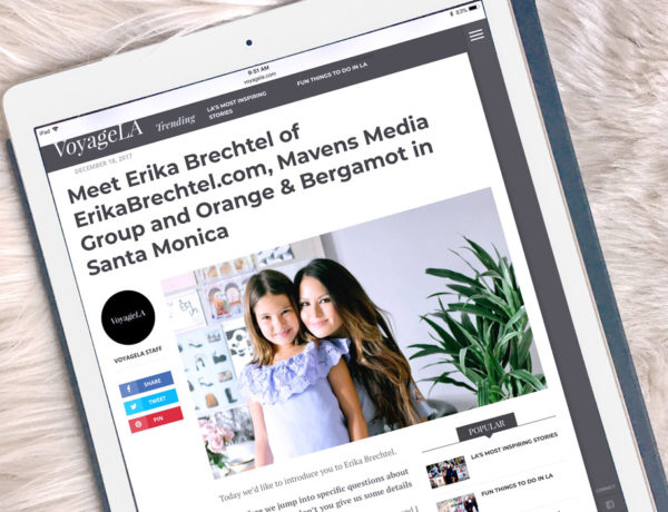 Erika Brechtel feature press mom entrepreneur LA VoyageLA magazine
