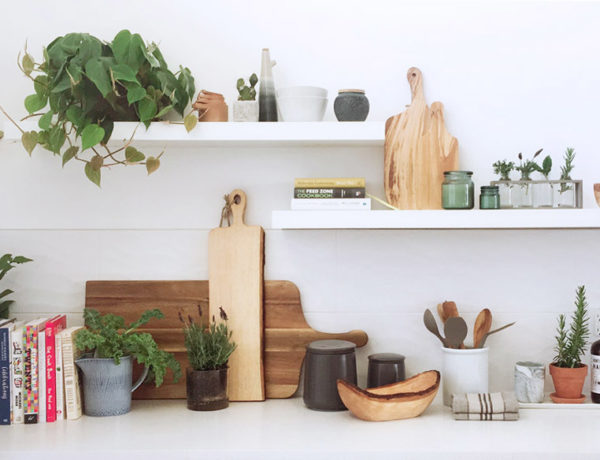 how to style a kitchen Erika Brechtel Rebel Labs 0 wood white grays greens countertop