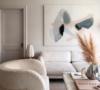 NG Collective art painting Kristen Giorgi artist cream living room