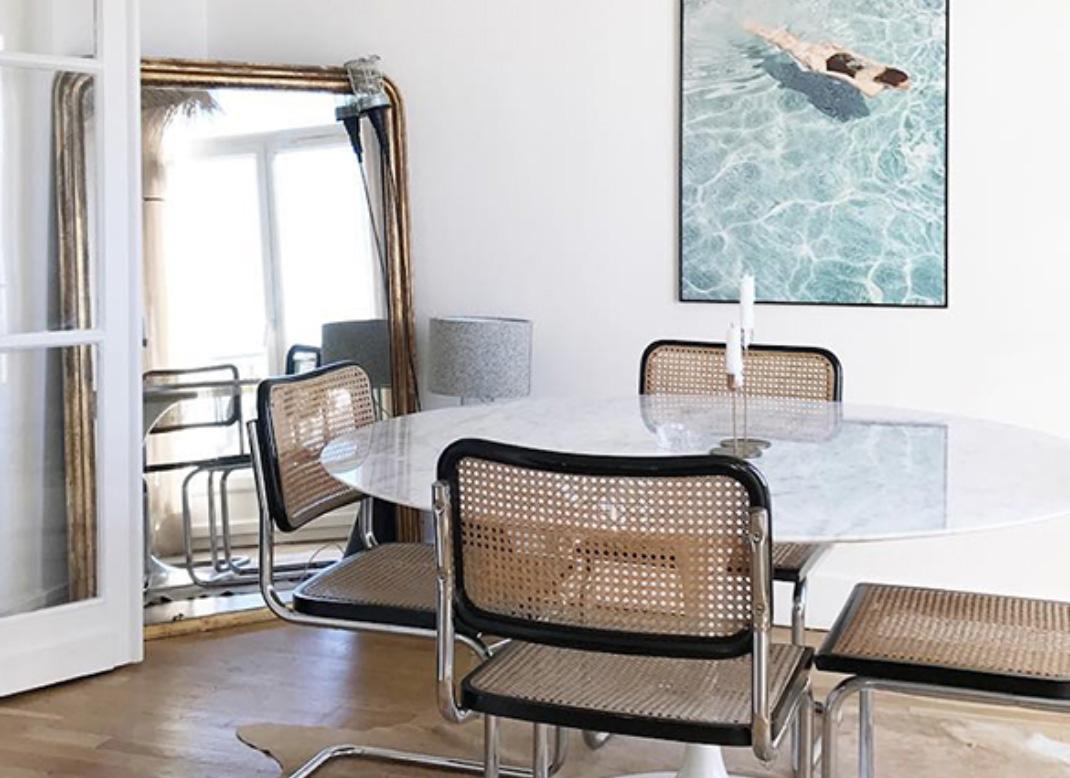 Get The Look Breuer Cane Chair Dining Room Erika Brechtel